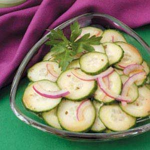 Asian Onion Cucumber Salad Recipe