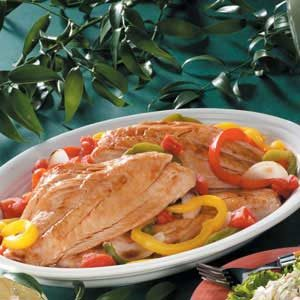 Grouper with Sweet Peppers Recipe