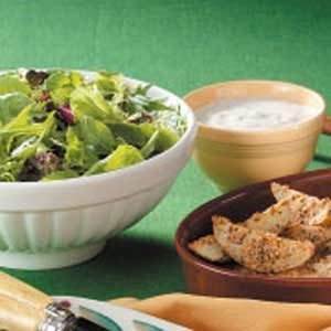 Greens with Creamy Herbed Salad Dressing Recipe