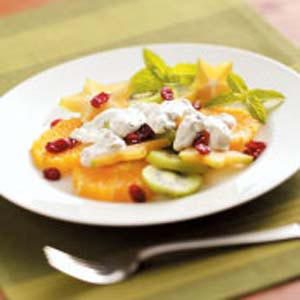 Mint-Cream Fruit Topping Recipe