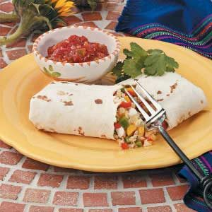Sweet Pepper Burritos for 2 Recipe