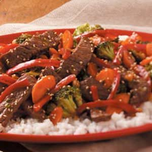 Peanut Ginger Beef Stir-Fry Recipe