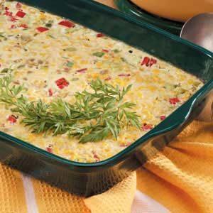 Three-Pepper Corn Pudding Recipe