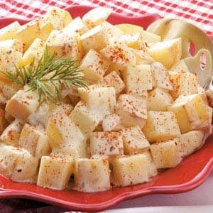 Warm Dill Potato Salad