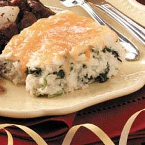 Mashed Potato Spinach Bake