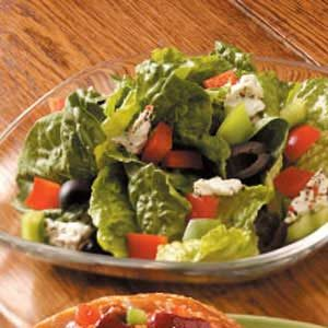 Feta-Olive Romaine Salad Recipe