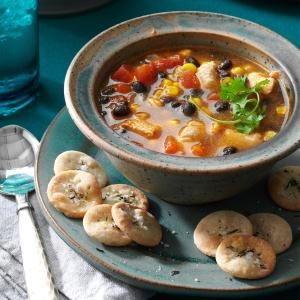 Skillet Southwestern Chicken Soup Recipe