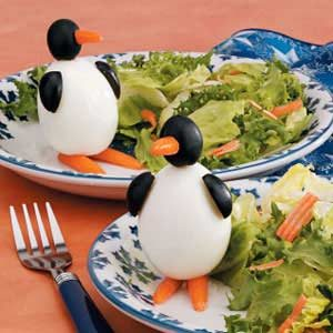 Egg Penguins Recipe