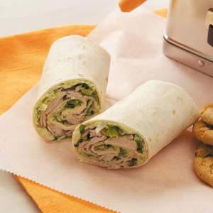 Turkey Guacamole Wraps Recipe