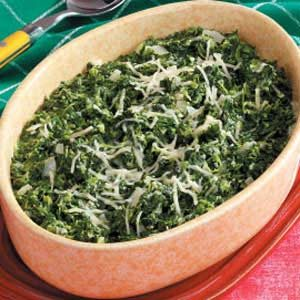 Herbed Baked Spinach Recipe