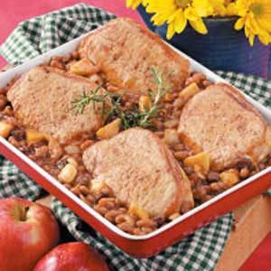 Bean and Pork Chop Bake Recipe