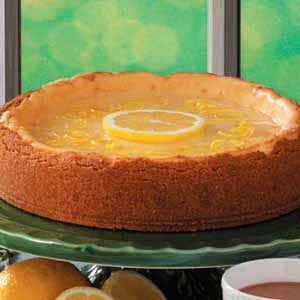 Golden Lemon Glazed Cheesecake Recipe