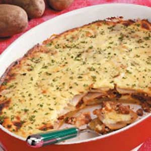 Beef and Potato Moussaka Recipe
