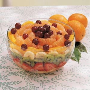 Layered Fresh Fruit Salad Recipe