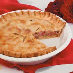 Double-Crust Rhubarb Pie Recipe