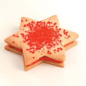 White Chocolate Star Sandwich Cookies Recipe