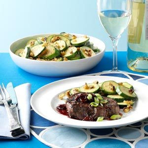 Tenderloin Steaks with Cherry Sauce Recipe