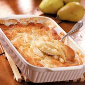 Ginger-Lime Pear Cobbler Recipe