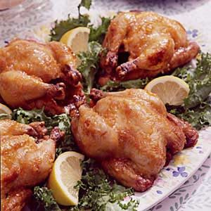 Citrus-Baked Cornish Hens Recipe