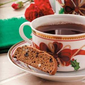 Gingerbread Currant Biscotti