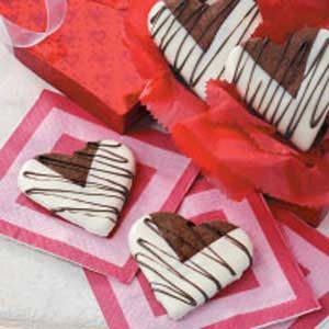Chocolate Heart Cookies Recipe