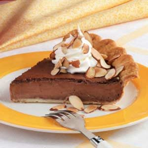 Almond-Fudge Custard Pie Recipe