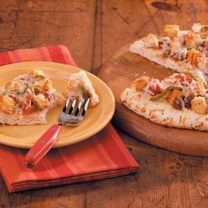 Quick Chicken Fajita Pizza Recipe
