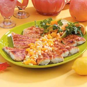 Cajun Catfish with Fruit Salsa Recipe
