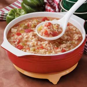 Tomato Chicken Rice Soup