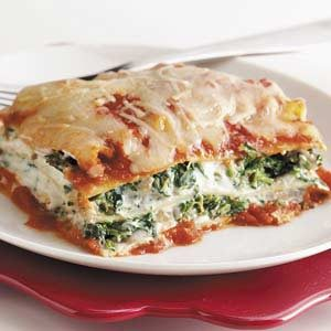 Tofu Spinach Lasagna Recipe photo by Taste of Home