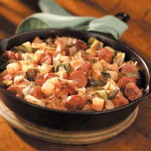 Kielbasa Cabbage Skillet Recipe