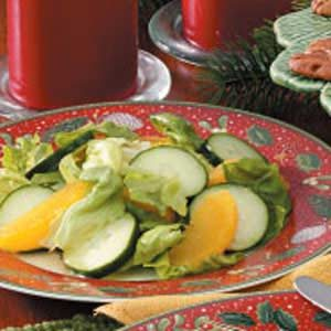 Orange-Cucumber Lettuce Salad Recipe
