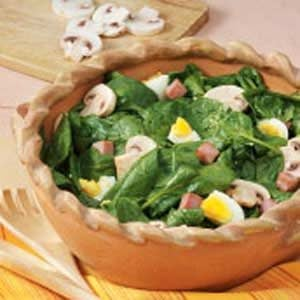 Warm Ham 'n' Spinach Salad Recipe