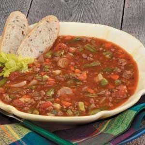 Family Vegetable Beef Soup Recipe