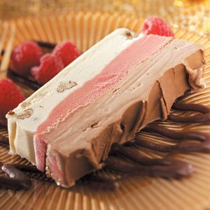 Raspberry-Fudge Frozen Dessert Recipe