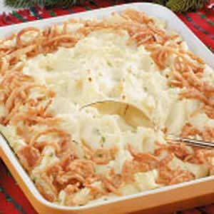 Golden Mashed Potato Bake