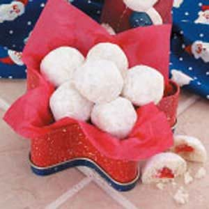 Cherry Snowball Cookies Recipe