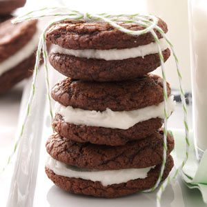 Chocolate-Mint Creme Cookies Recipe