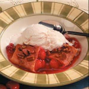 Saucy Cherry Enchiladas Recipe