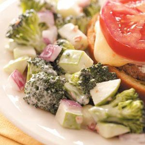 Fresh Broccoli Salad with Apple and Bacon Recipe