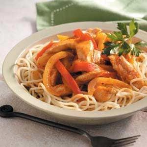 Chicken Fajita Spaghetti Recipe