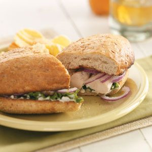 Broiled Chicken Tenderloin Sandwiches Recipe