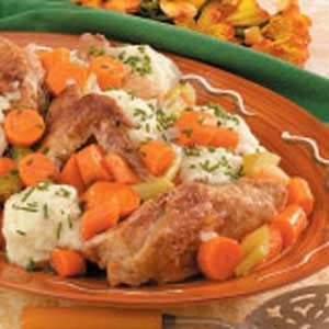 Chicken Fricassee With Dumplings Recipe