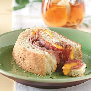 Ham 'n' Sausage Stromboli Recipe