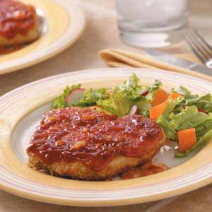 Saucy Breaded Pork Chops Recipe