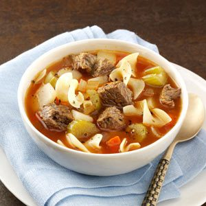 Zesty Vegetable Beef Soup