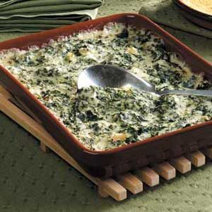 cheesy Spinach Bake Recipe