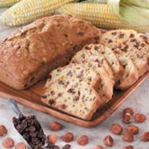 Hazelnut-Raisin Corn Bread Recipe
