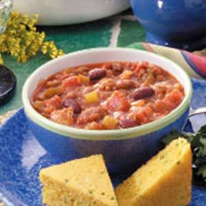 Southwestern Three-Meat Chili Recipe