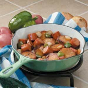 Bratwurst Potato Skillet for Two Recipe